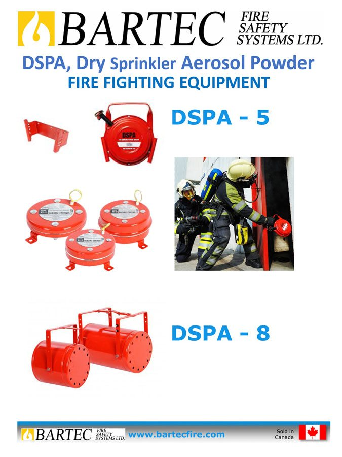 Dry Sprinkler Aerosol Powder Units