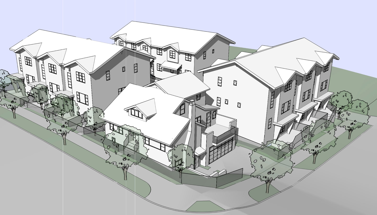 Villa Bleu Townhomes fire safety plan construction sites