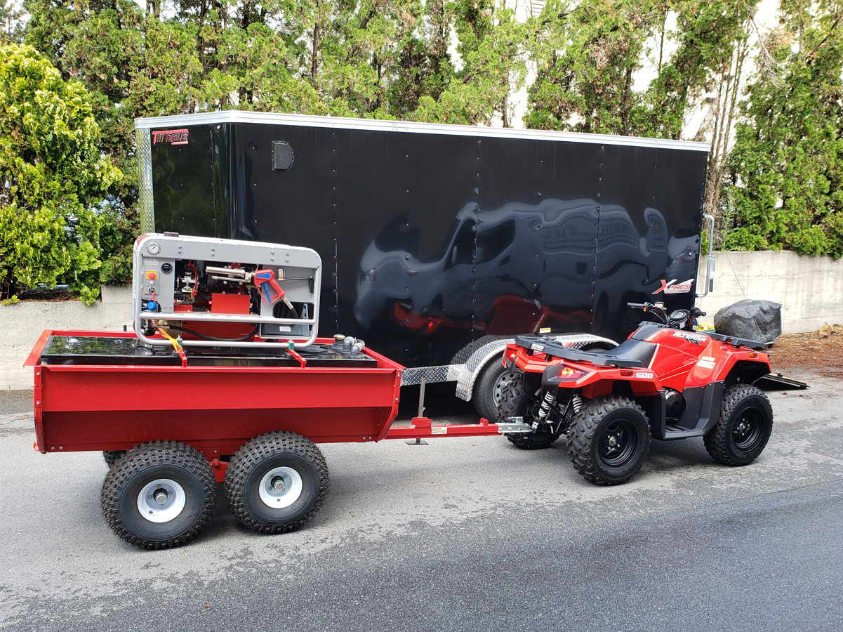 atv trailer mobile firefighting unit
